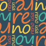 Modèle sans couture de Reno, Etats-Unis illustration stock