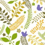 Modèle sans couture de ressort avec les éléments floraux illustration libre de droits