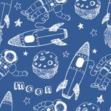 Modèle sans couture de Rocket illustration libre de droits