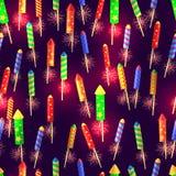 Modèle sans couture de Rocket de explosion brillants Image libre de droits