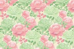 Modèle sans couture de rose décorative en pastel d'offre Photo stock