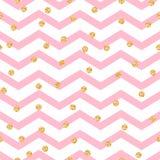 Modèle sans couture de rose de zigzag de Chevron et blanc Images stock