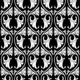 Modèle sans couture de rosette gothique illustration stock