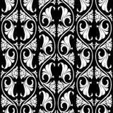 Modèle sans couture de rosette gothique illustration libre de droits