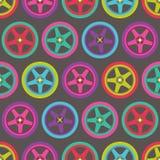 Modèle sans couture de roues Image libre de droits