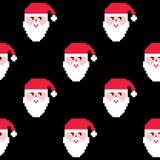 Modèle sans couture de Santa, papier peint de Noël, décoration répétitive de Noël Photographie stock libre de droits