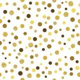 Modèle sans couture de scintillement d'or de vecteur Photo stock
