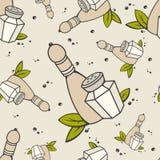 Modèle sans couture de sel et de poivre Illustration Libre de Droits