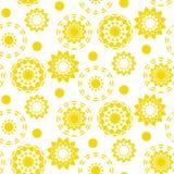 Modèle sans couture de silhouette décorative du soleil Photo libre de droits