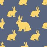 Modèle sans couture de silhouette de lièvres ou de lapin Vecteur Images stock