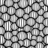 Modèle sans couture de sphères noires et blanches illustration de vecteur