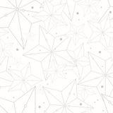Modèle sans couture de style de hippie avec des étoiles Illustration Libre de Droits