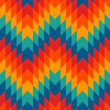 Modèle sans couture de style ethnique avec des lignes de chevron Fond d'ornamental de natifs américains Motif tribal Mosaïque col illustration stock
