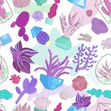 Modèle sans couture de Succulents Illustration Stock
