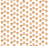 Modèle sans couture de Sufganiyot Texture sans couture de beignet juif illustration libre de droits
