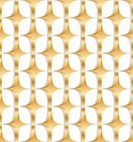 modèle sans couture de symétrie d'or du diamant 3d Photos stock