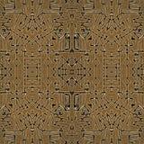 Modèle sans couture de symboles géométriques tribals illustration stock