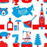 Modèle sans couture de symboles russes Ornement de ressortissant de la Russie illustration de vecteur