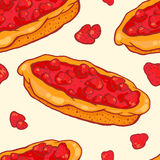 Modèle sans couture de tarte de fraise Photo libre de droits