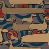 Modèle sans couture de teckel Images libres de droits