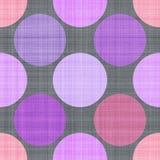 Modèle sans couture de textile avec des points illustration stock