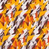 Modèle sans couture de textile des triangles colorées dans des couleurs chaudes Photos libres de droits