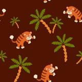 Modèle sans couture de tigre Image libre de droits