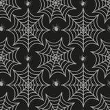 Modèle sans couture de toile d'araignée Texture répétitive d'araignée Fond sans fin de Halloween Illustration de vecteur Photos stock