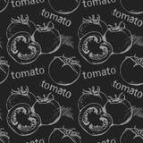 Modèle sans couture de tomate illustration de vecteur