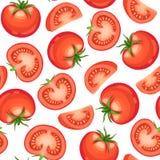 Modèle sans couture de tomate Photo stock