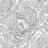 Modèle sans couture de topographie Image libre de droits