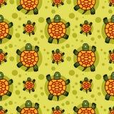 Modèle sans couture de tortues Photo libre de droits