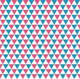 Modèle sans couture de tri de bleu, rouge et blanc équilateral commandé illustration de vecteur