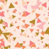 Modèle sans couture de triangle malpropre colorée illustration stock