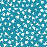 Modèle sans couture de triangle de style de Memphis Images libres de droits