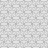 Modèle sans couture de triangle de vecteur - dessin géométrique Fond dernier cri abstrait Texture créative de grille illustration stock