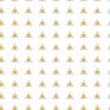 Modèle sans couture de triangles abstraites de texture en or et couleurs grises sur le blanc Images libres de droits