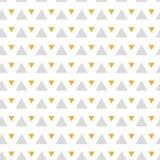 Modèle sans couture de triangles abstraites de texture en or et couleurs grises sur le blanc Image stock