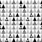 Modèle sans couture de triangles Texture de tuile de pyramide Répétition géométrique abstraite illustration libre de droits