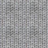 Modèle sans couture de tricotage fait main de laine Photographie stock libre de droits