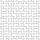 Modèle sans couture de Truchet de la géométrie de vecteur Image libre de droits
