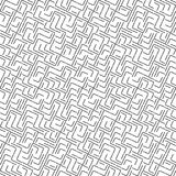 Modèle sans couture de Truchet de la géométrie de vecteur Image stock