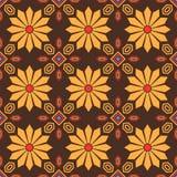 Modèle sans couture de tuile florale orientale de style Image stock