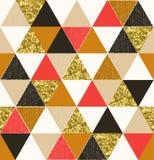 Modèle sans couture de tuile de triangle avec l'effet scintillant illustration libre de droits