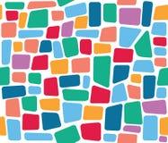 Modèle sans couture de tuile de vecteur coloré de mosaïque Photos stock