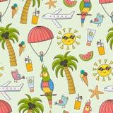 Modèle sans couture de vacances d'été illustration stock