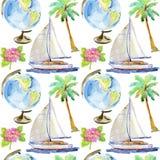 Modèle sans couture de vacances Illustration d'aspiration de main illustration libre de droits