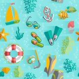 Modèle sans couture de vacances tropicales d'été Photo libre de droits