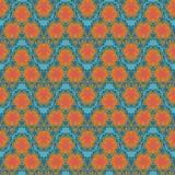 Modèle sans couture de vague de gribouillis oranges de textile Photos libres de droits