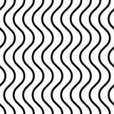 Modèle sans couture de vague et de rayure Image stock